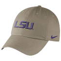 Nike LSU Tigers Relaxed Dri-FIT Adjustable Heritage86 Auth Cap - Khaki