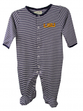 LSU Tigers Infant Reagan Striped Footed Pajamas - Purple and White