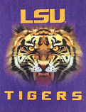 """LSU Tigers 30"""" x 40"""" Silk Screened Double Sided Tiger Banner Flag - Purple"""