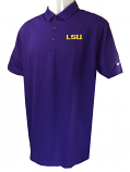LSU Tigers Men's Victory Nike Golf DriFit Polo - Purple