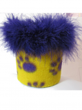 Gameday Paw Print Floozie Coozie - Purple and Gold