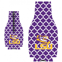 LSU Tigers Quatre Foil Bottle Coozie - Purple and  White