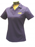 LSU Tigers Cutter & Buck Women's Genre Silhouette Tiger Polo - Dark Purple
