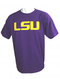 Bayou LSU Tigers YOUTH Classic Short Sleeve T-Shirt - Purple