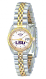 LSU Women's Classic 2-Tone Watch with White Face Purple LSU Custom Made by Taylor Watches