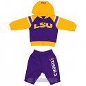 LSU Tigers INFANT Linebacker Fleece Set - Purple and Gold