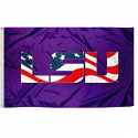 LSU Tigers American Logo 3' x 5' Flag with Grommets