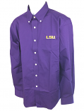 LSU Tigers Antigua Men's Dynasty Button Down Shirt - Purple