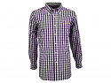 LSU Tigers Men's Antigua Alliance Long Sleeve Button Down Plaid Shirt - Purple, Grey & White