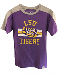 LSU Tigers Child & Youth Color Blocked Blend T-Shirt - Purple and Grey