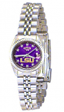 LSU Classic Silver Diamond Watch for Women with Purple Background and Silver Outline Custom Made by Taylor Watches