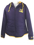 LSU Tigers Women's Quilted Insulated Fullzip Hooded Jacket - Purple