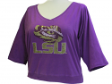 LSU Tigers Women's Jeweled 3/4 Raglan Sleeve Top - Purple