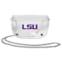 LSU Tigers Clear Vinyl Over the Shoulder or Waistband Logo Purse