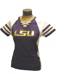 LSU Tigers Women's Final Quarter Laced Bling Jersey - Purple and White