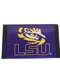 LSU Tigers Nylon Trifold Nylon Wallet - Purple