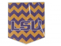 LSU Tigers Chevron Pocket Decal - 4""