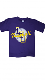 LSU Tigers Youth Short Sleeve Interlocking Baseball T-Shirt - Purple