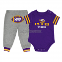 LSU Tigers Colosseum Infant MVP Onesie & Pant Set - Purple and Grey