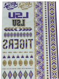 LSU Tigers 50-Pack Spirit Body Tattoos - Purple, Gold & Black