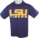 LSU Tigers Youth Core15 Dri Polyester Tee - Purple