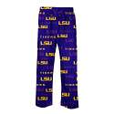 LSU Tigers Men's Insider Allover Print Pajama Pants - Purple and Gold