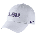 Nike LSU Tigers Relaxed Dri-FIT Adjustable Heritage86 Auth Cap - White