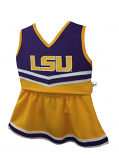 LSU Tigers Girl's 2-Piece Cheerleader Set - Purple and Gold