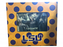 LSU Tigers Polka Dot Wood Style Frame - Purple and Gold