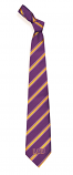 LSU Tigers 100% Woven Polyester Striped Tie - Purple and Gold