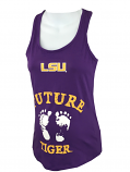 LSU Tigers Women's Future Tiger Maternity Tank Top - Purple