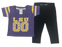 LSU Tigers Infant Jersey Glitter Tee Pant Set - Purple and Black