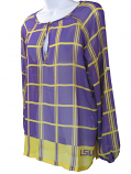 LSU Tigers Women's Plaid Sheer Tunic - Purple and Gold