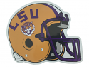 LSU Tigers Large Helmet Auto Magnet - Purple and Gold