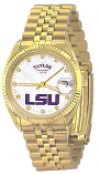 LSU Classic Gold Diamond Watch for Men with White Background Custom Made by Taylor Watches