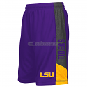 Colosseum LSU Tigers Boy's Youth Strike Polyester Shorts - Purple