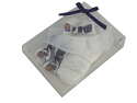 LSU Tigers Infant Logo Bow Barrette and Sock Set in Gift Box