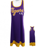 LSU Women's Purple & Gold Distressed Hi Lo Racer Back Dress