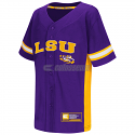 Colosseum LSU Tigers Youth Strike Zone Baseball Jersey - Purple and Gold