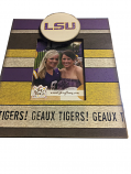 "LSU Tigers Vintage Striped  10"" x 10"" Picture Frame - Purple, Gold and White"