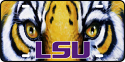 LSU Tigers Glossy Print Tiger Eye License Plate