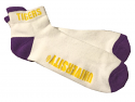 LSU Tigers One Size Fits Most Performance Logo Footie - White, Purple & Gold