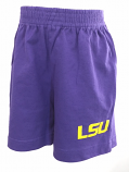 LSU Tigers Toddler Shorts - Purple
