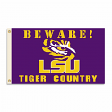 LSU Tigers Beware of Tiger Country Flag 3' x 5'