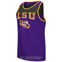 LSU Tigers Men's Backcut Tank – Purple and Charcoal