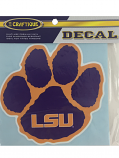 "Craftique LSU Tigers Purple and Gold Paw Decal 6"" x 6"""