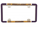 Louisiana State University Alumni Varsity Thin Rim License Plate Frame - Purple and Gold