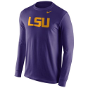Nike LSU Tigers Men's Long Sleeve Cotton Wordmark Tee - Purple