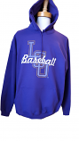 LSU Tigers Script Baseball Hoodie - Purple