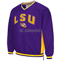 LSU Tigers Colosseum Men's Fair Catch Pullover Windbreaker - Purple & Gold